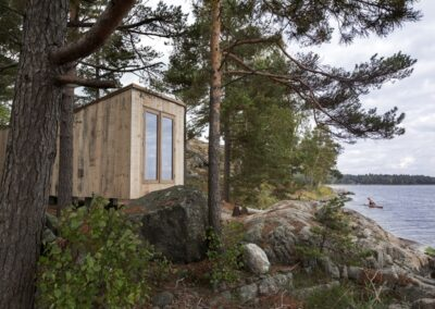 "Reused wooden structure nominated at the arhitectural competition ""Swedish Wood Award 2020"""
