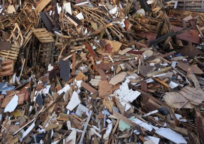 Survey of wood demolition waste contamination in UK